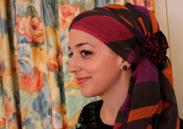 Head covering hair loss fancy