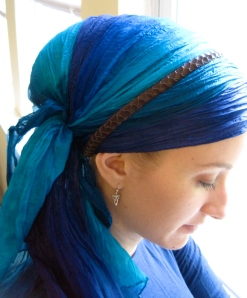 tichel blue headband